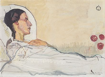Ferdinand Hodler Valentine Godé-Darel on Her Sick bed 1914 oil on canvas