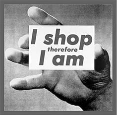 I shop therefore I am-B&W-small