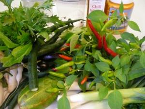 fresh veg  herbs