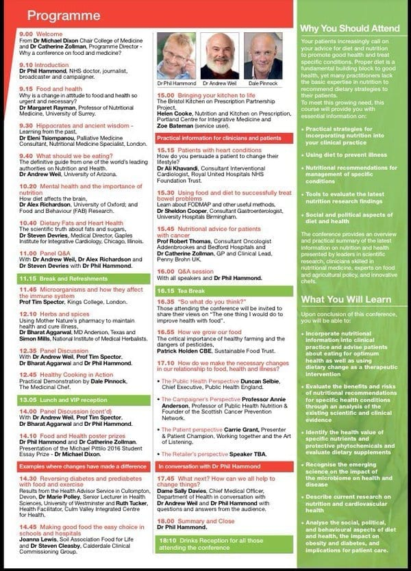 Food conference programme