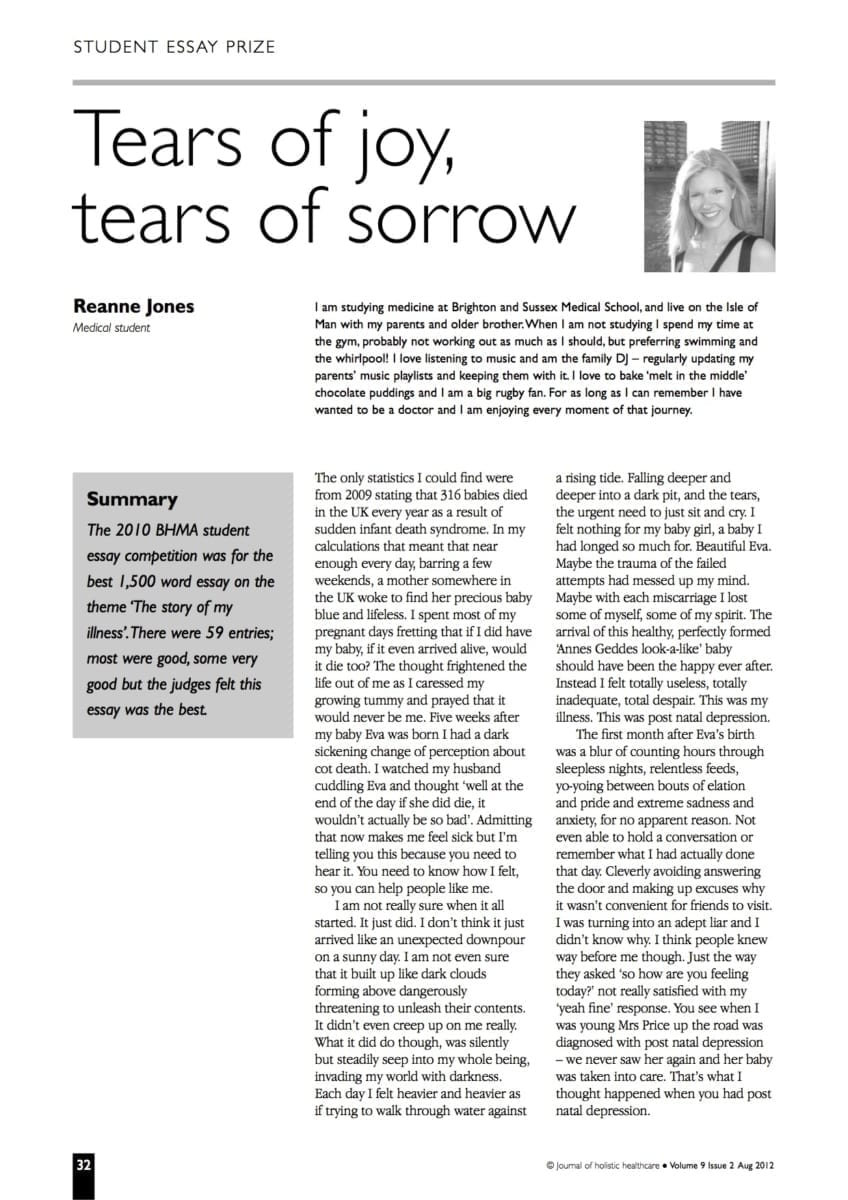 essay on joy and sorrow of school life