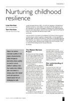 14.1.5 Nurturing Childhood Resilience