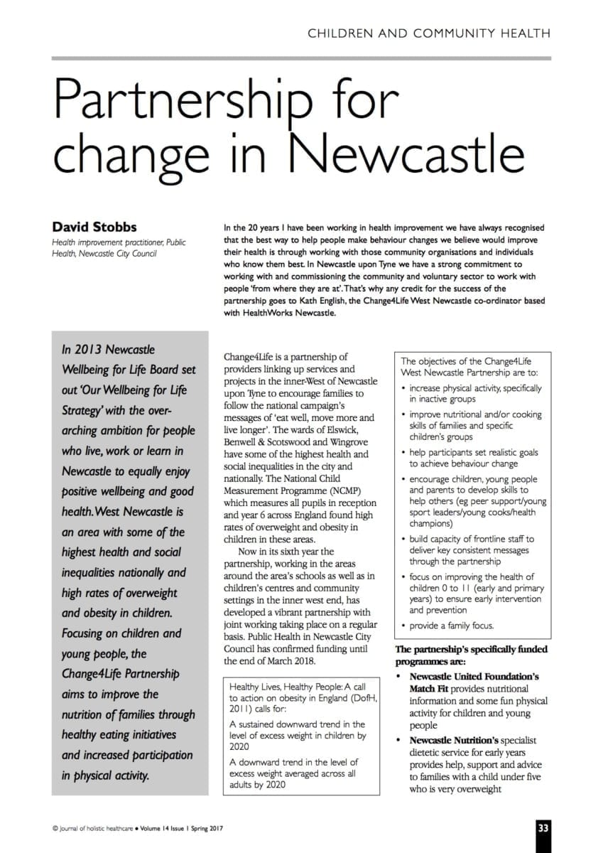 14.1.8 Partnership for Change in Newcastle