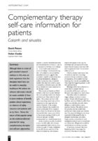 11.1.7 complimentary therapy self care information for patients