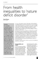 12.1.2 health inequalities to nature deficit disorder