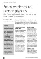 12.2.4 from ostiches to carrier pigeons