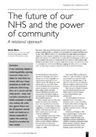 12.2.5 the future of our NHS and the power of community