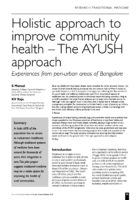 12.2.9 AYUSH holisitc appeoach to community health