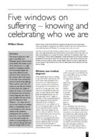 12.3.5 five windows on suffering knowing and celebrating who we are