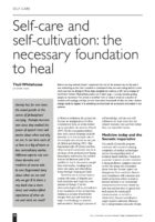 13.2.08 Self-care and self-cultivation