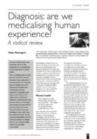 13.2.09 Diagnosis- are we medicalising human experience?