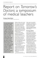 13.2.10 Report on Tomorrow's Doctors