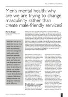 14.3.2 Men's mental health- why are we trying to change masculinity