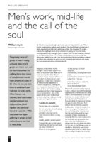 14.3.3 Men's work, mid-life and the call of the soul
