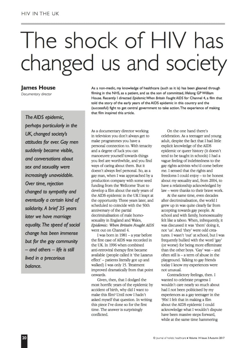 14.3.5 The shock of HIV has changed us and society
