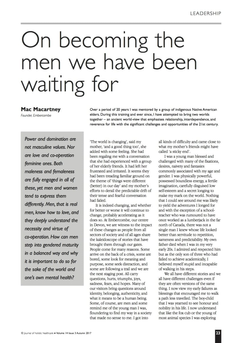 14.3.6 On becoming the men we have been waiting for
