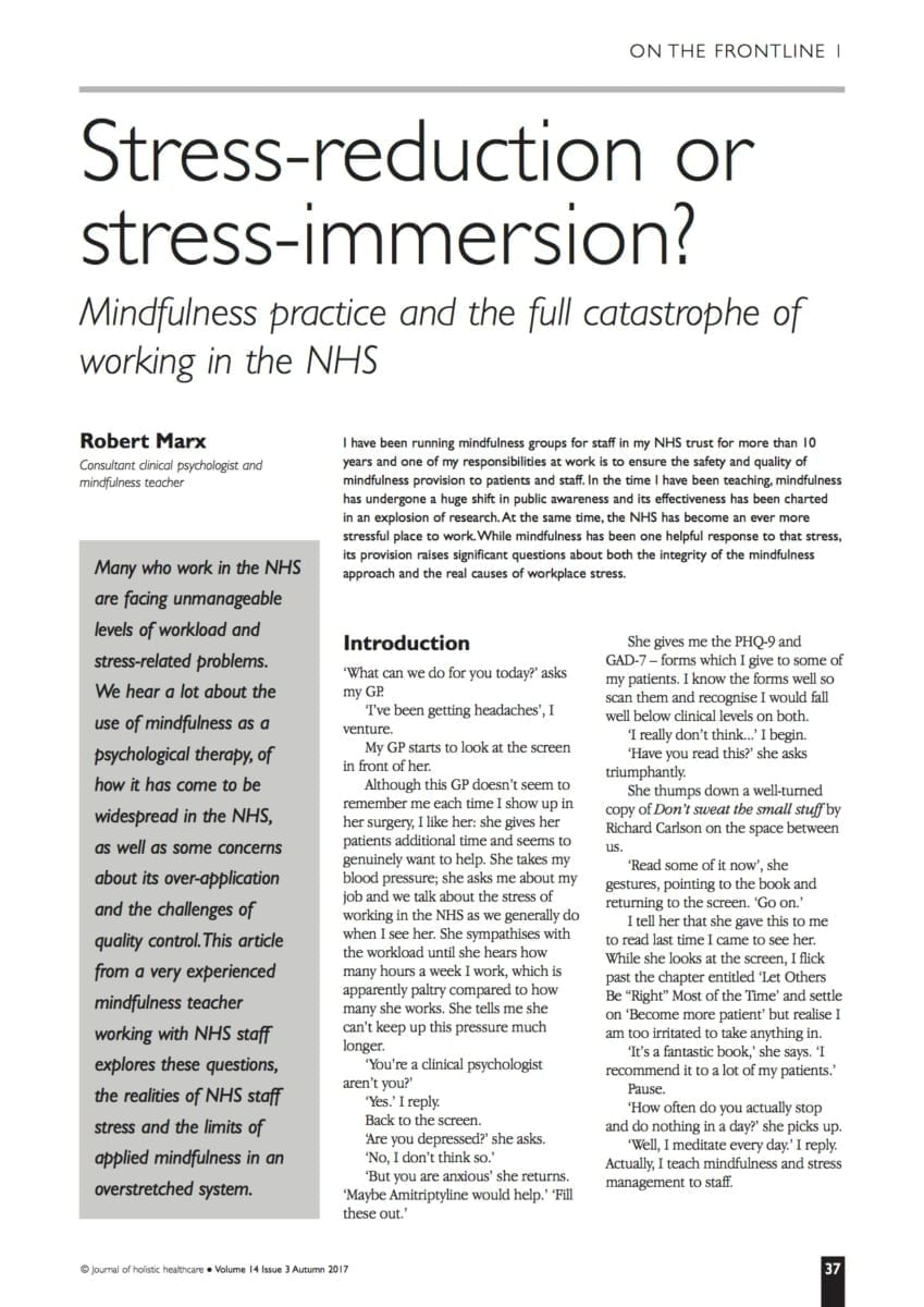 14.3.9 Stress-reduction or stress-immersion