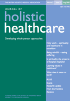 Cover photo for Journal of Holistic Healthcare Vol 2
